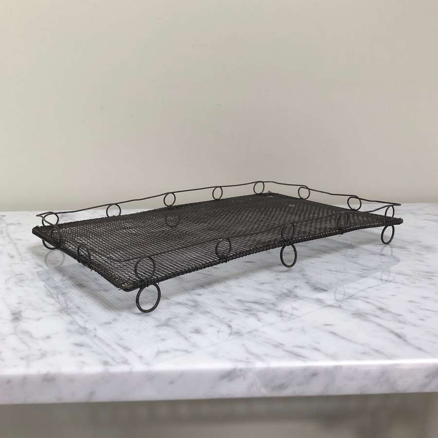 1930s Large Wire Work Loop Top Cake Cooling Rack