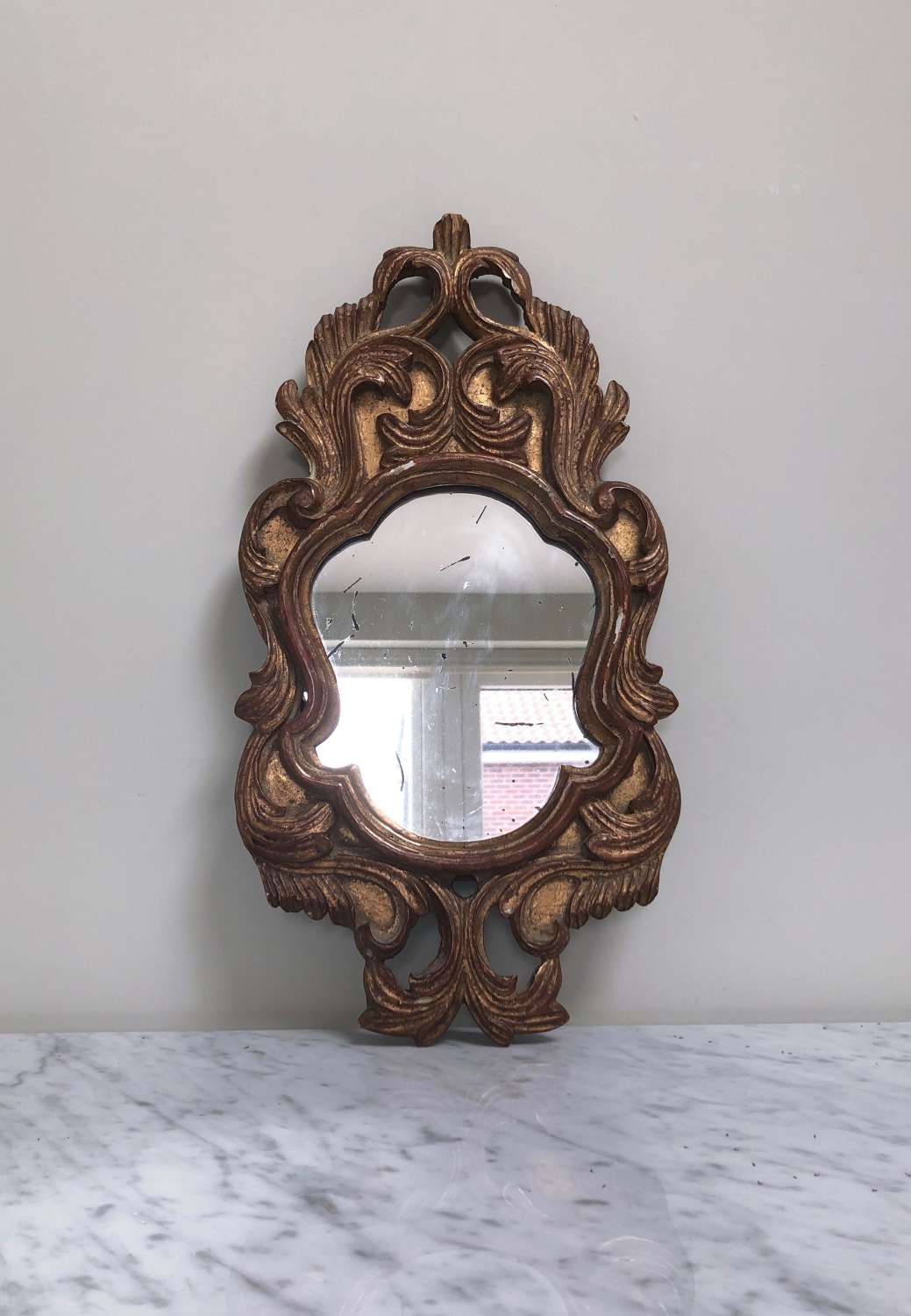 Early 20th Century Decorative Giltwood Pine Carved Mirror