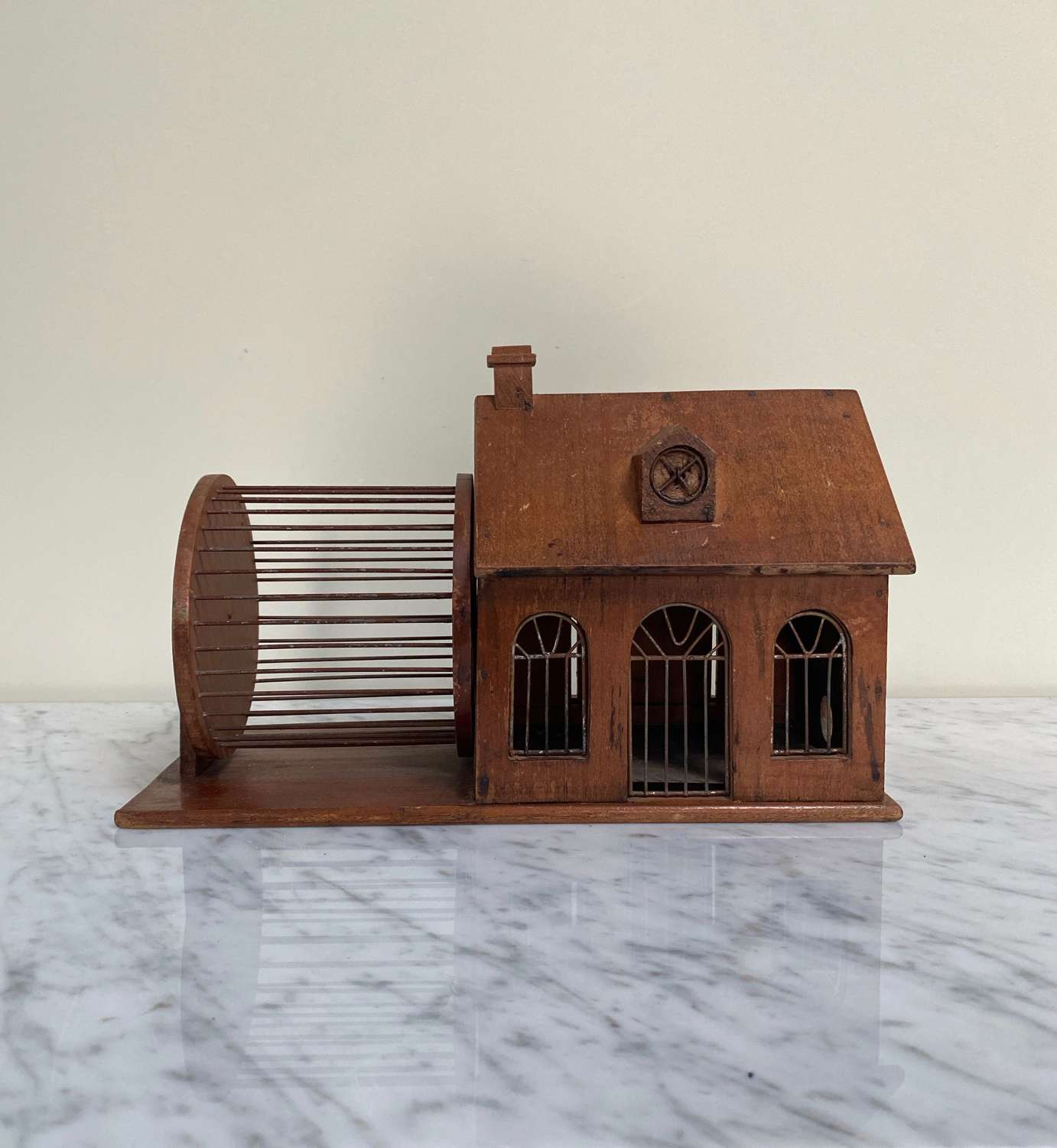 Superb Early 20th Century Mouse House with Original Tray
