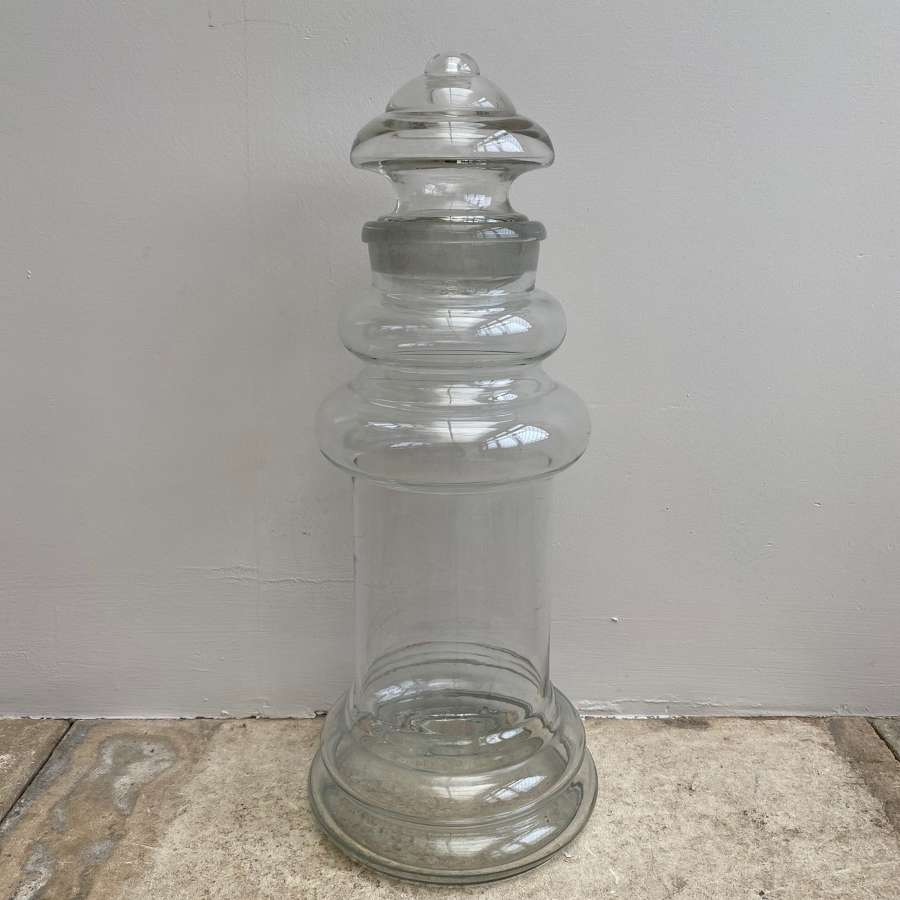 Late Victorian Glass Sweet Shop Jar - Lovely Condition