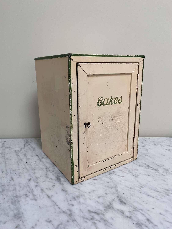 Early 20th Century Cream Tin Cakes Safe