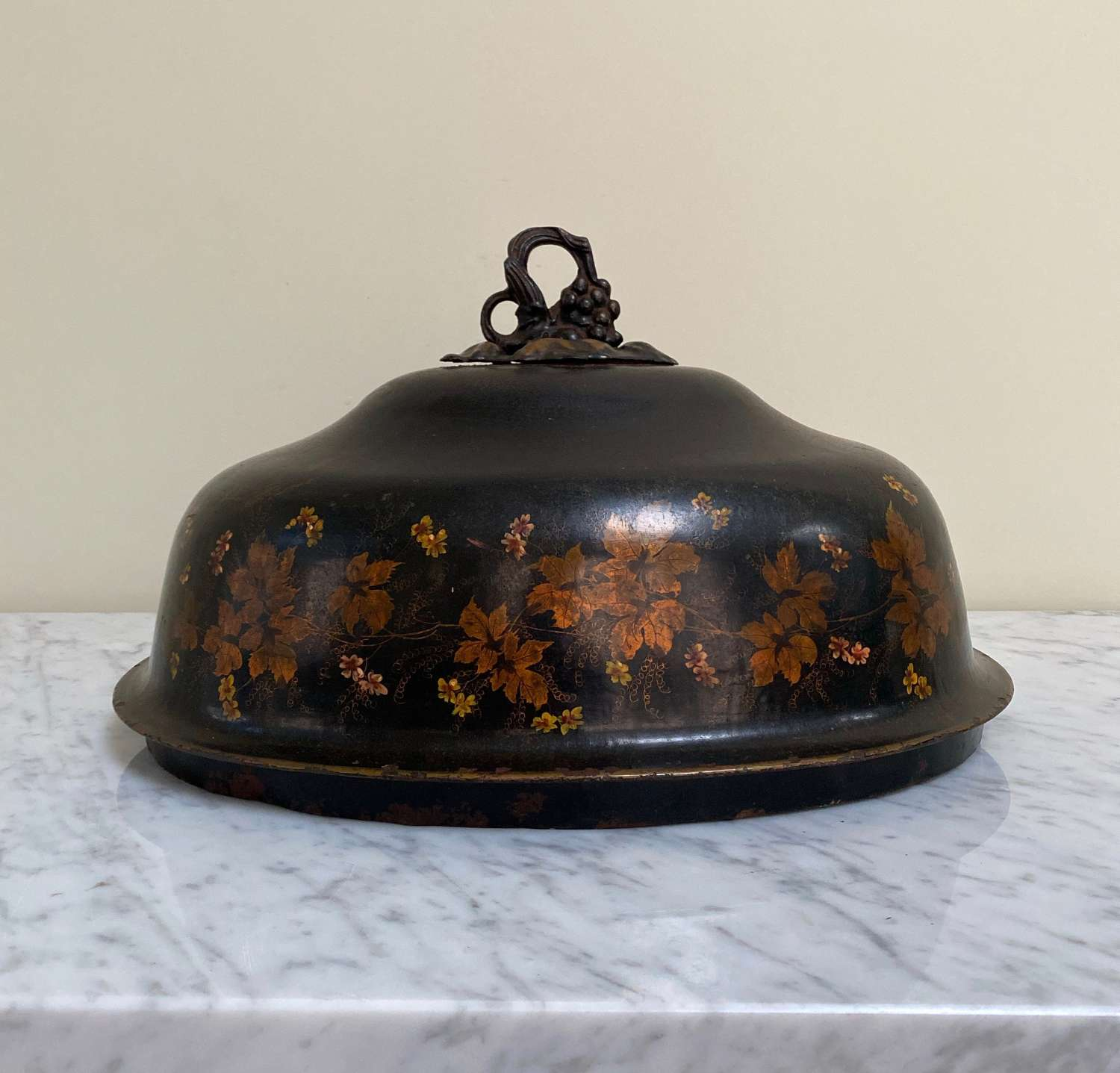 Victorian Large Toleware Food Cover