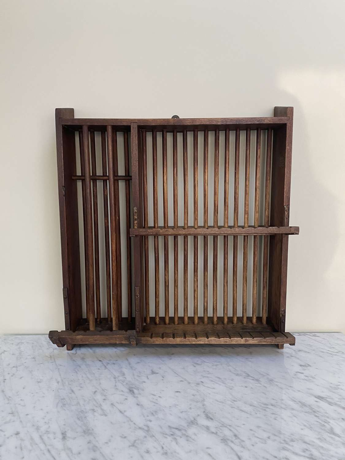 Early 20thC Staines Wall Hung Plate Rack