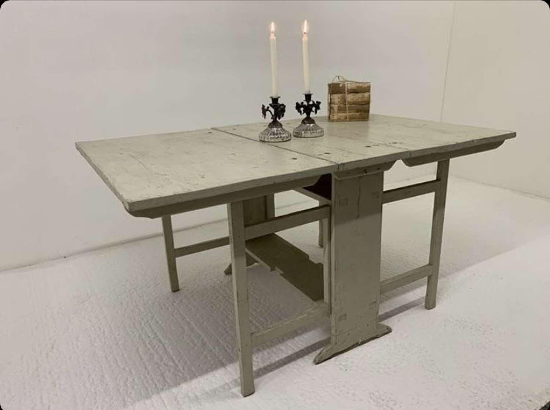 Victorian Swedish Pine Slagbord Dropleaf Table