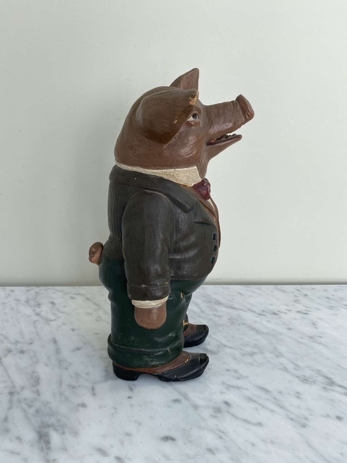 Rare 1930s Butchers Terracotta Display Pig