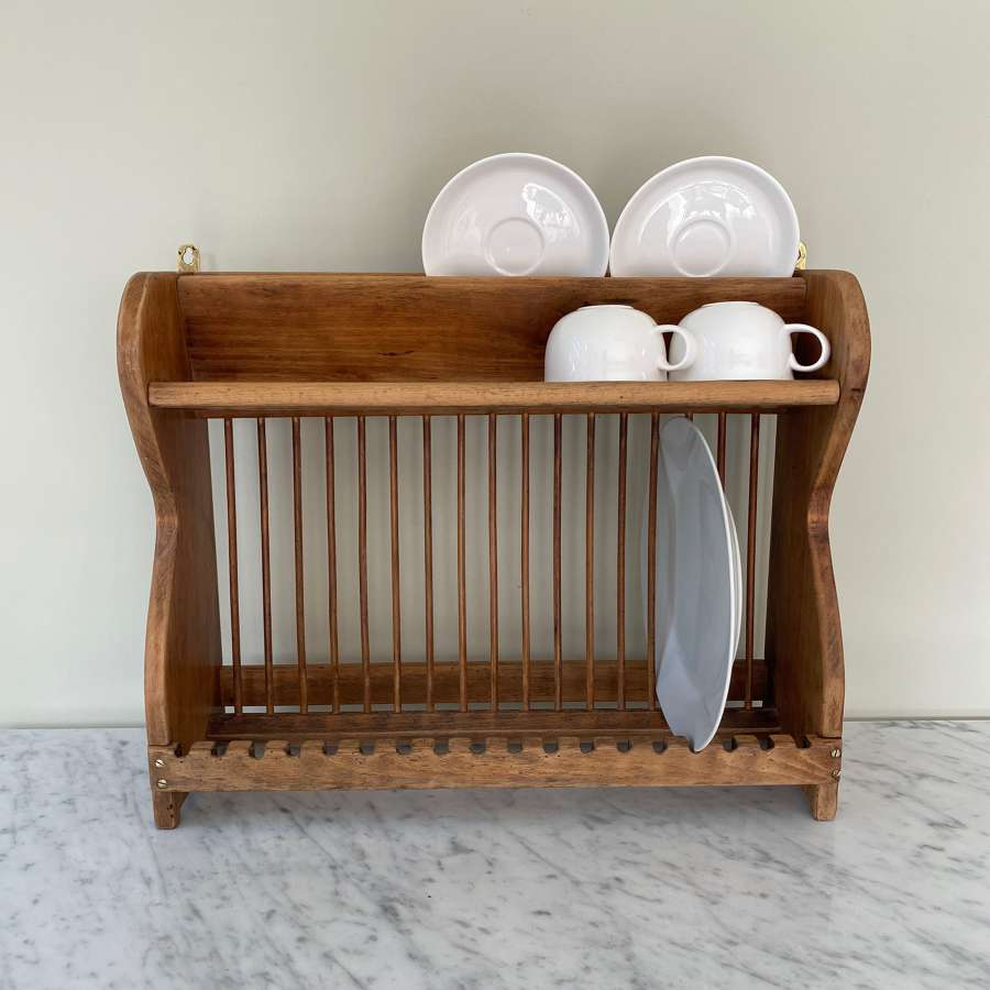 Wall Hung Plate, Cup & Saucer Rack c.1940