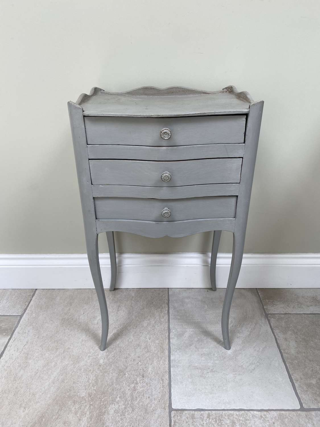 Early 20th Century Three Drawer Side Table - Bedside Table