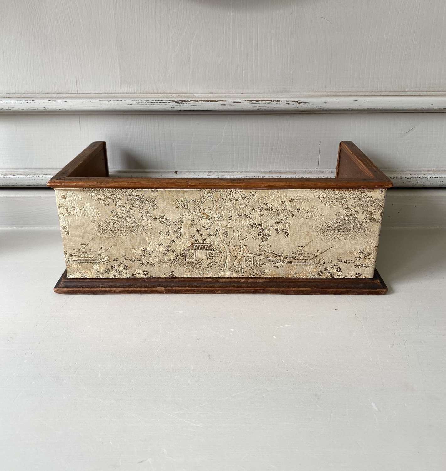 Early 20thC Fabric Covered Mahogony Book Stand - Sandringham House