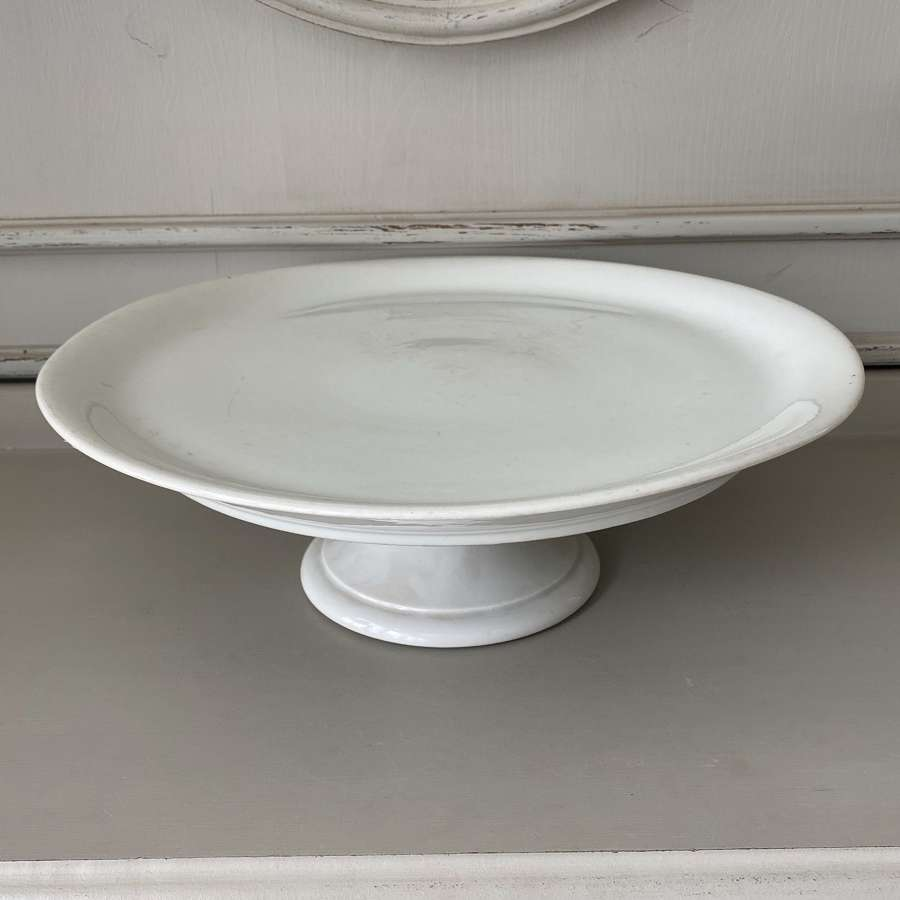 Huge Edwardian White Ironstone Patisserie Cake Stand