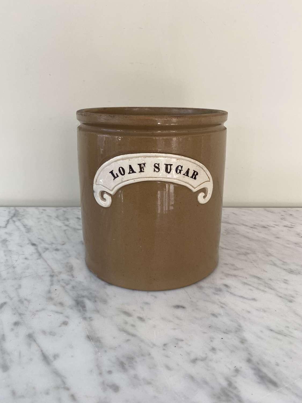 Late Victorian Loaf Sugar Kitchen Jar - Perfect Utensil Pot
