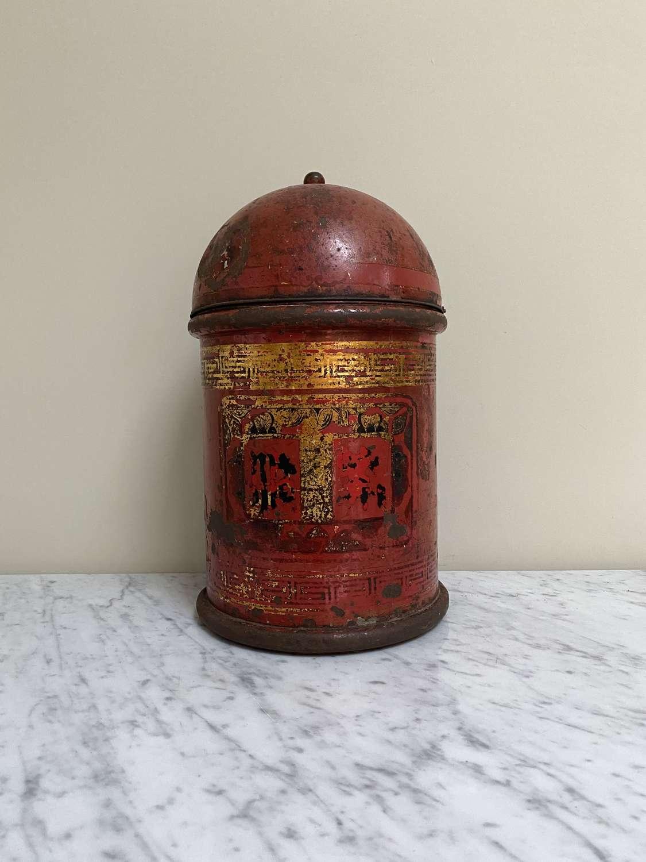 Victorian Toleware Tea Tin - Wonderful Shape