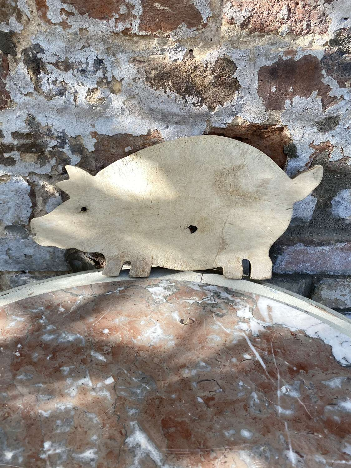 Early 20th Century Pig Shaped Chopping Board