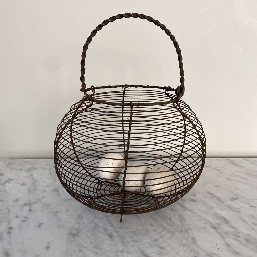 Early 20th Century Wire Work Egg Basket