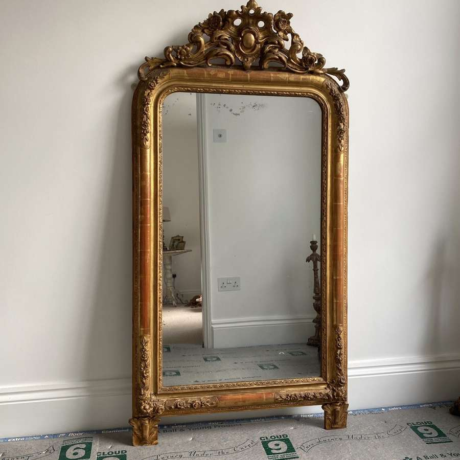 Quality Victorian French Mirror - Completely Original-Superb Condition