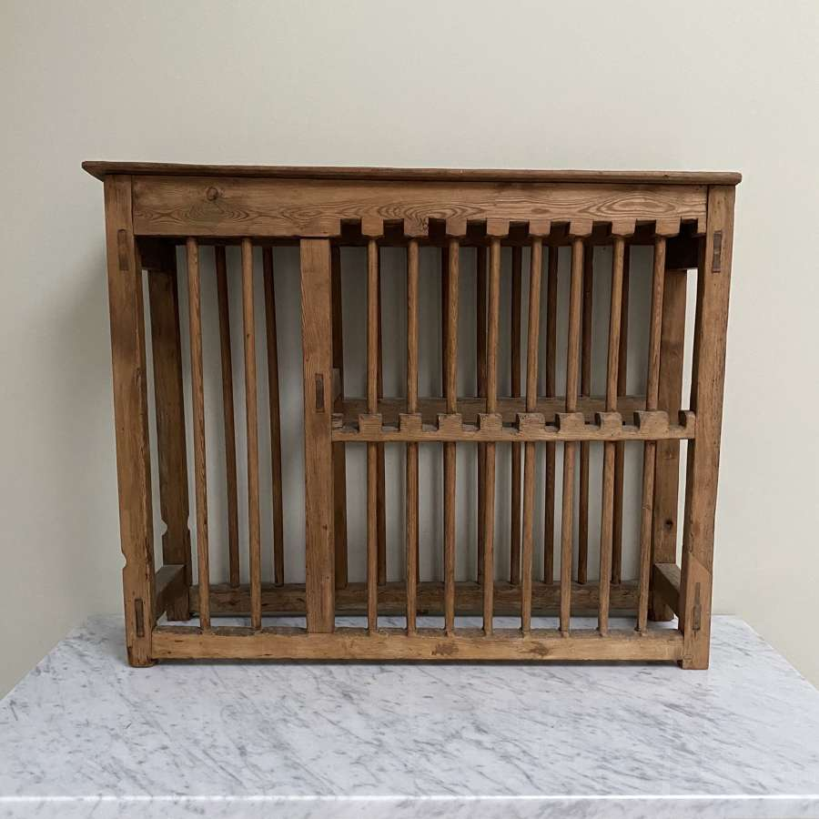 Victorian Pine Plate Rack - Shelf Top - Castleations to Top Tier