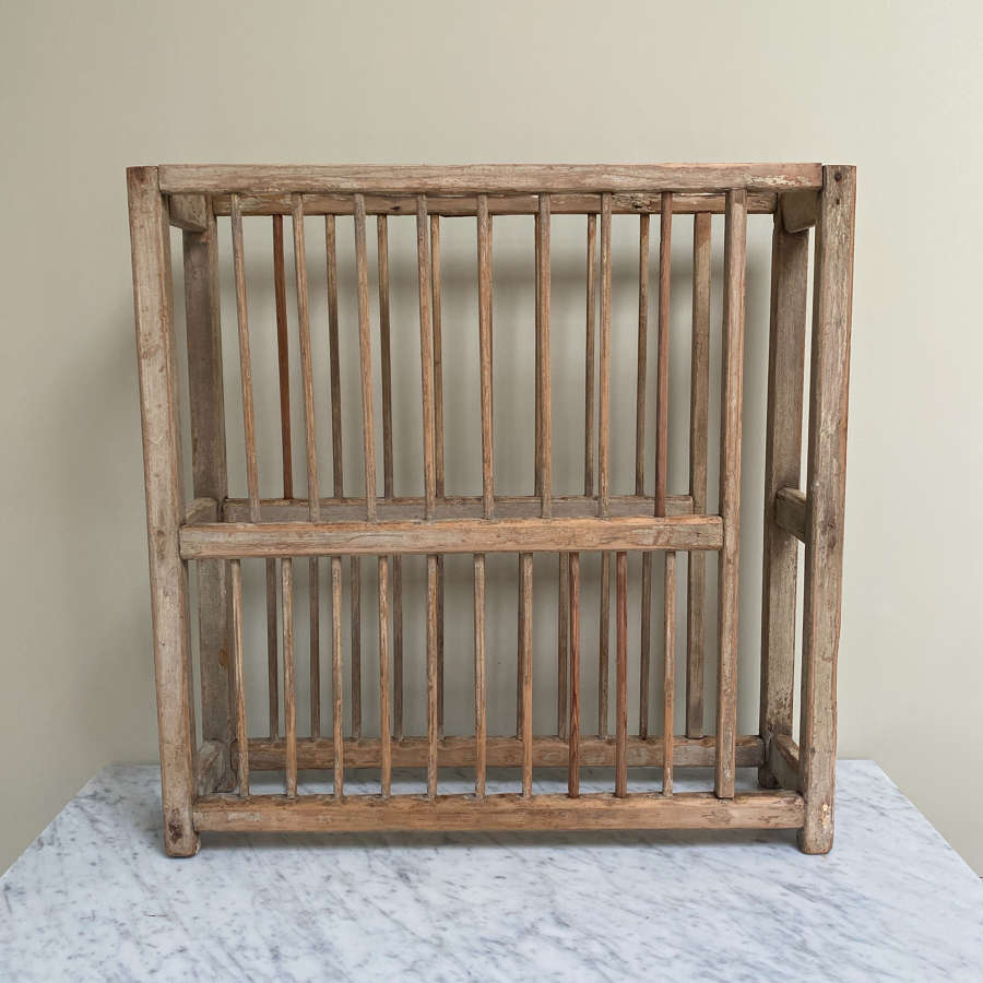 Victorian Pine Two Tier Plate Rack - Traces of Original Paint