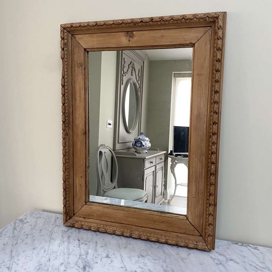 Victorian Deeply Carved Pine Frame made into Mirror
