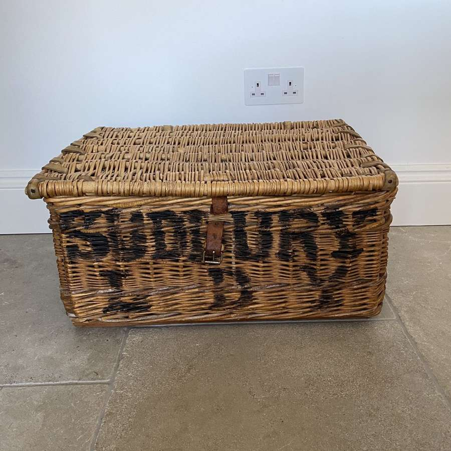 Early 20th Century Laundry Basket - Sudbury Laundry