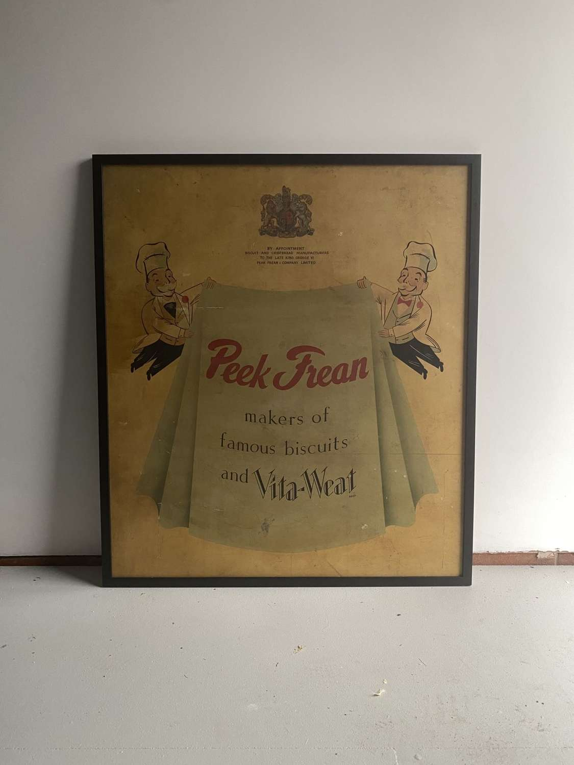 Large Original Advertising Sign for Peek Frean Biscuits c1950.
