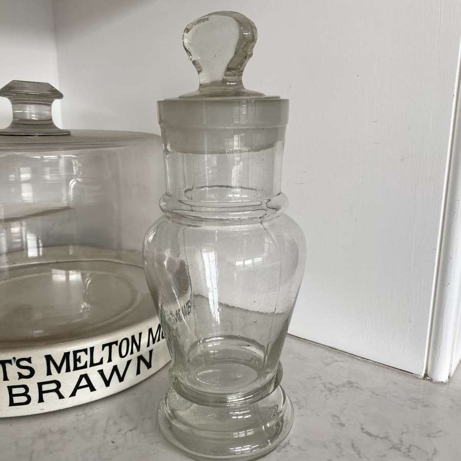 Large Early 20th Century Glass Sweet or Chemists Jar - Great Shape