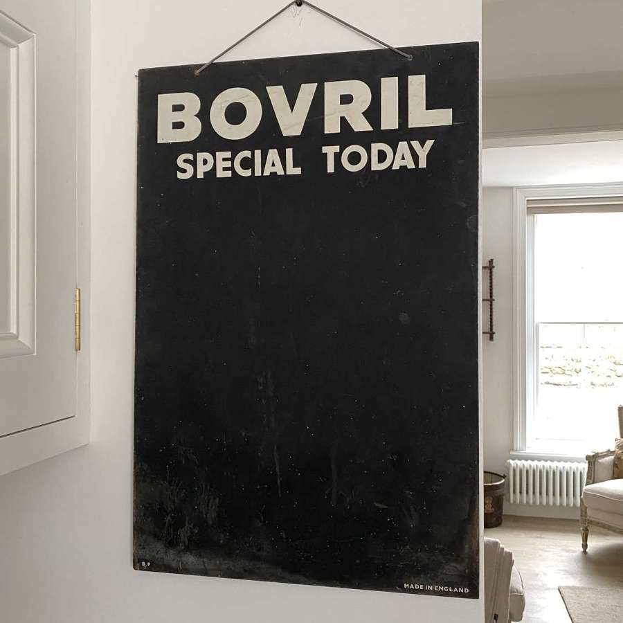 Mid Century Shops Advertising Blackboard - Bovril Special Today