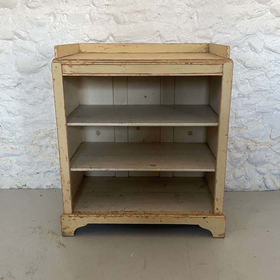 Late Victorian Pine Shelves - Hand Scraped to Original Paint