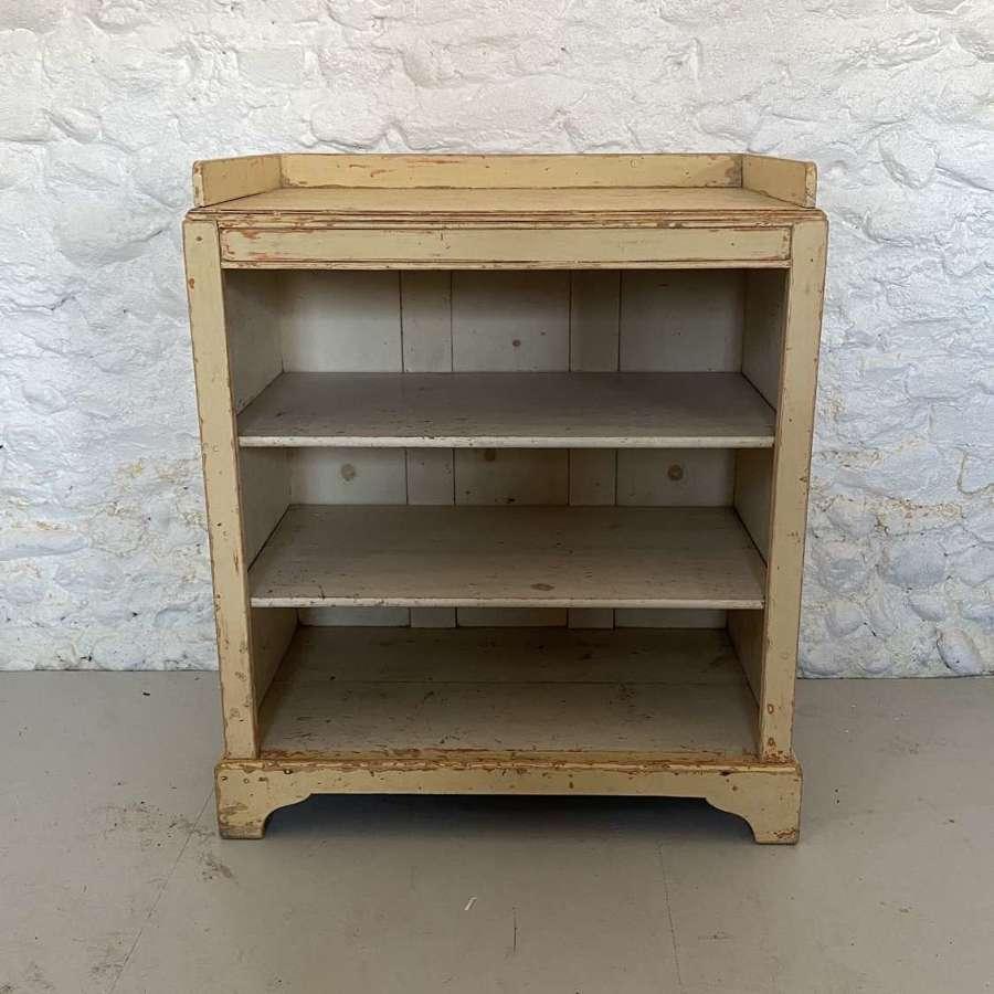 Late Victorian Pine Shelves - Hand Scraped to Original Paint