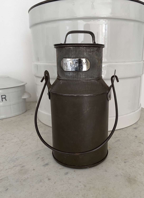Early 20th Century Milk Tin with Original Lid & Hande