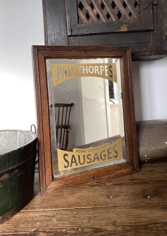 Edwardian Shops Advertising Mirror - Palethorpes Sausages