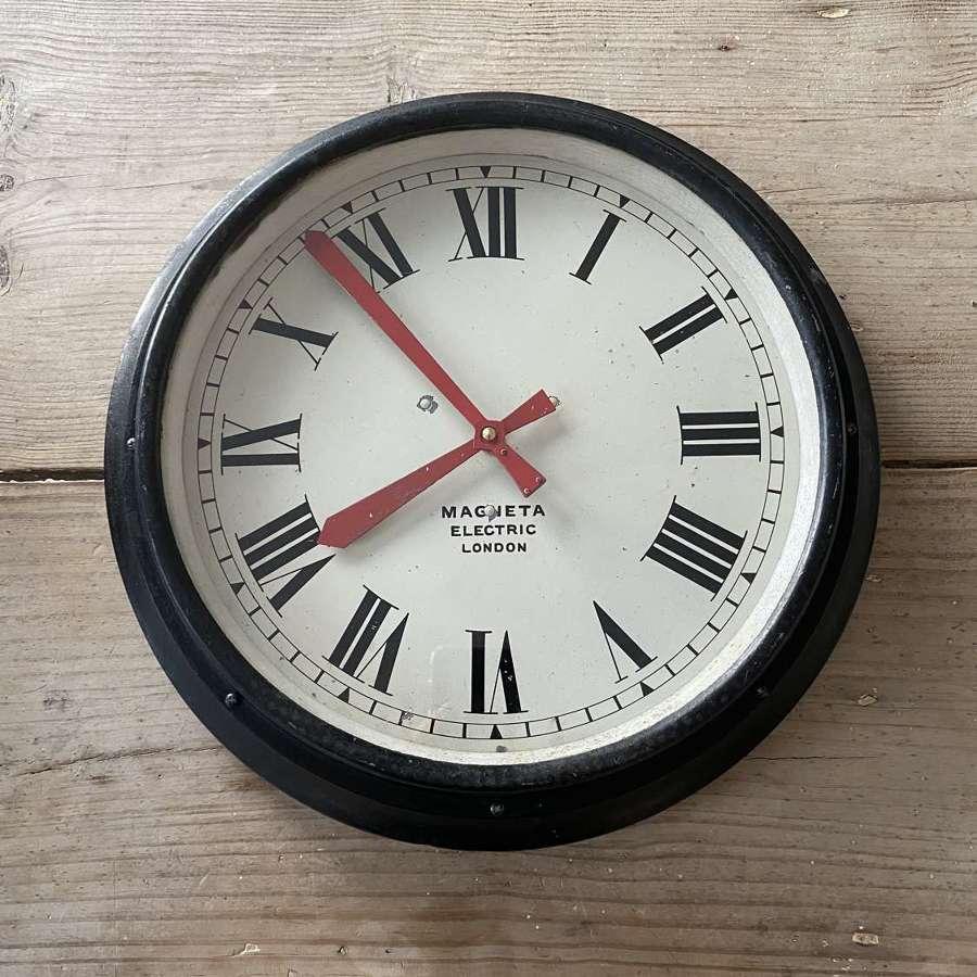 Mid Century Industrial Wall Clock - Converted to Quartz