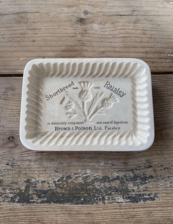 The Rare Rectangular Edwardian Brown & Polsons Shortbread Mould