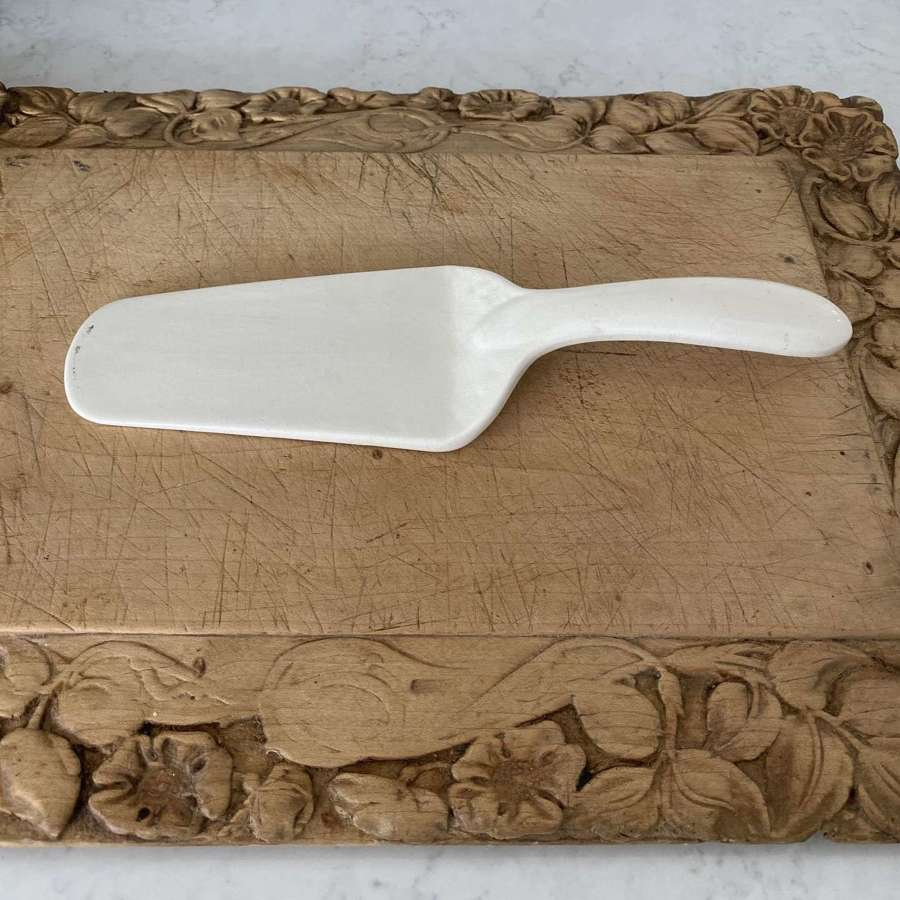 Early 20th Century White Ironstone Aynsley & Co Cake Server