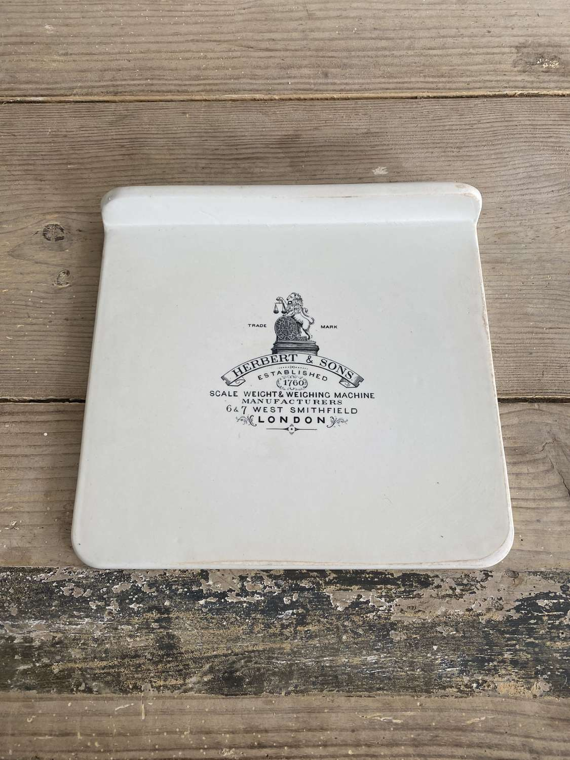 Large Edwardian White Ironstone Scale Plate - Perfect For Cheese