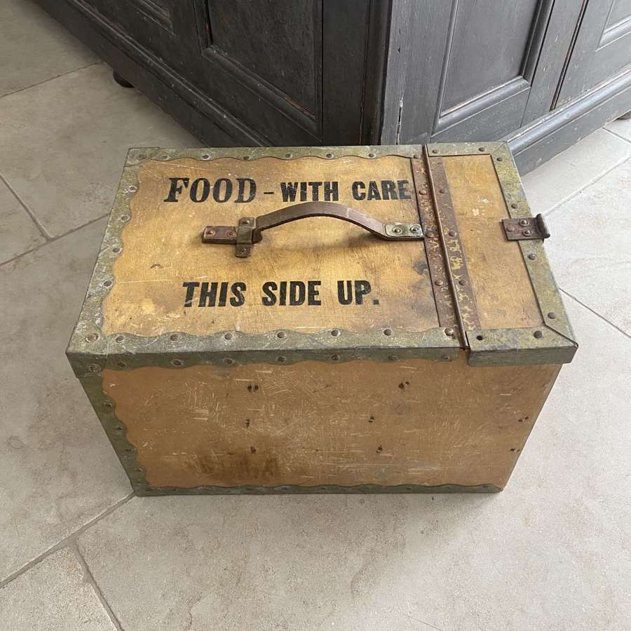 Mid Century Travelling Food Storage Box - Four Handy Drawers