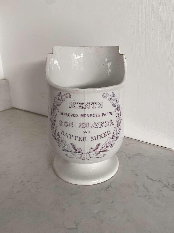 Rare Victorian Kents Egg Beater & Batter Mixer