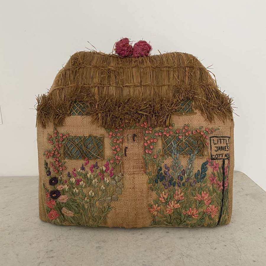 Early 20th Century Hand Stitched Cottage Tea Cosy