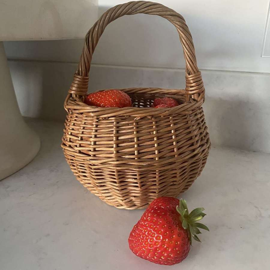 The Sweetest Antique Childs Berry Basket