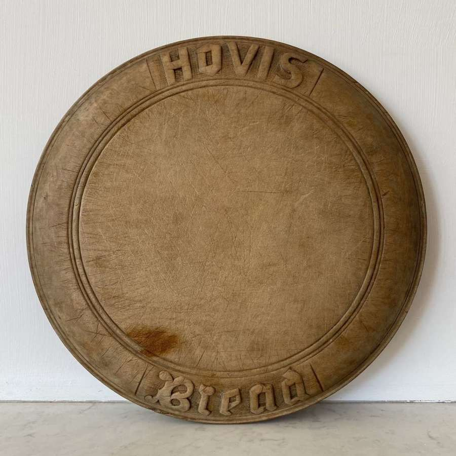 Early 20th Century Carved Advertising Bread Board - Hovis