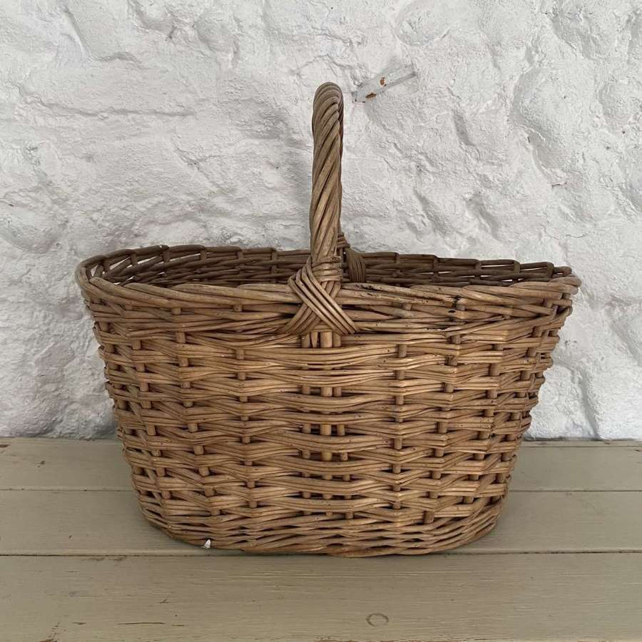 Early 20th Century Whicker Basket
