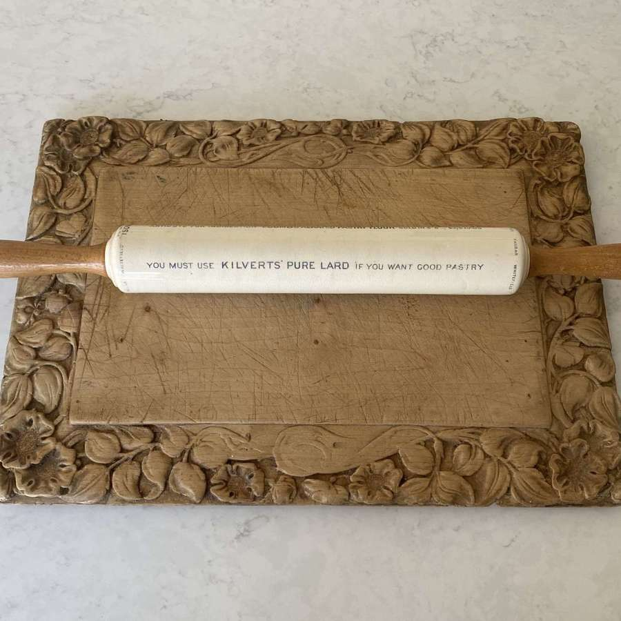 Edwardian Ironstone Isobel Advertising Rolling Pin Excellent Condition