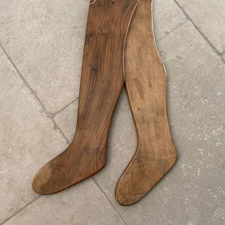 Antique Pair of Solid Pine Hanging Sock Driers