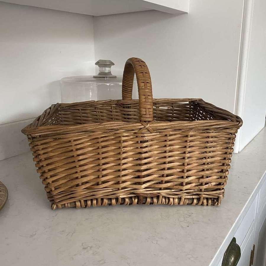Lovely Condition Antique Market Basket