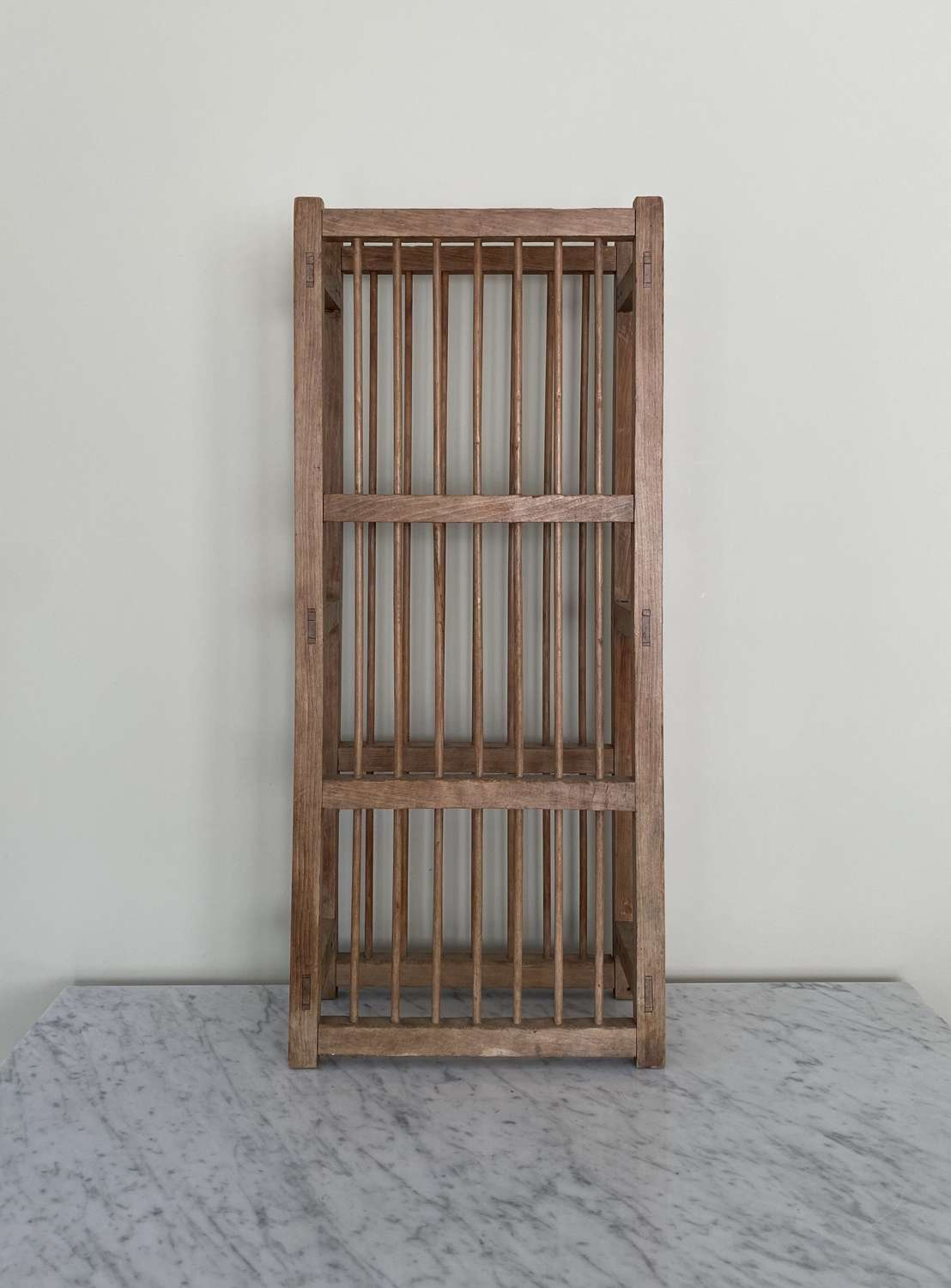 Antique Early 20th Century Three Tier Plate Rack