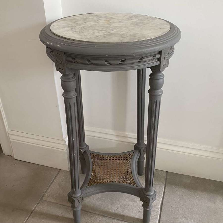 Early 20th Century Marble Top Side Table - Later Painted