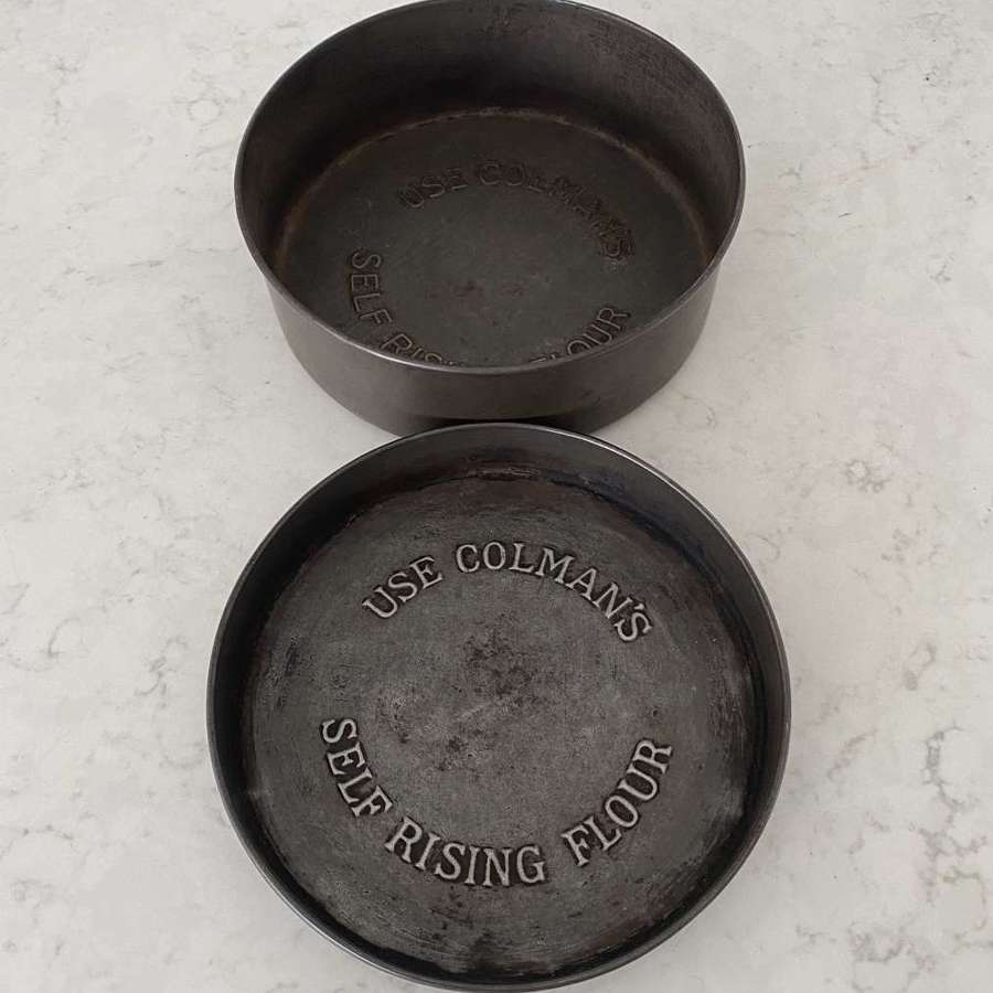 Two Early 20thC Advertising Cake Tins - Colmans Self Rising Flour