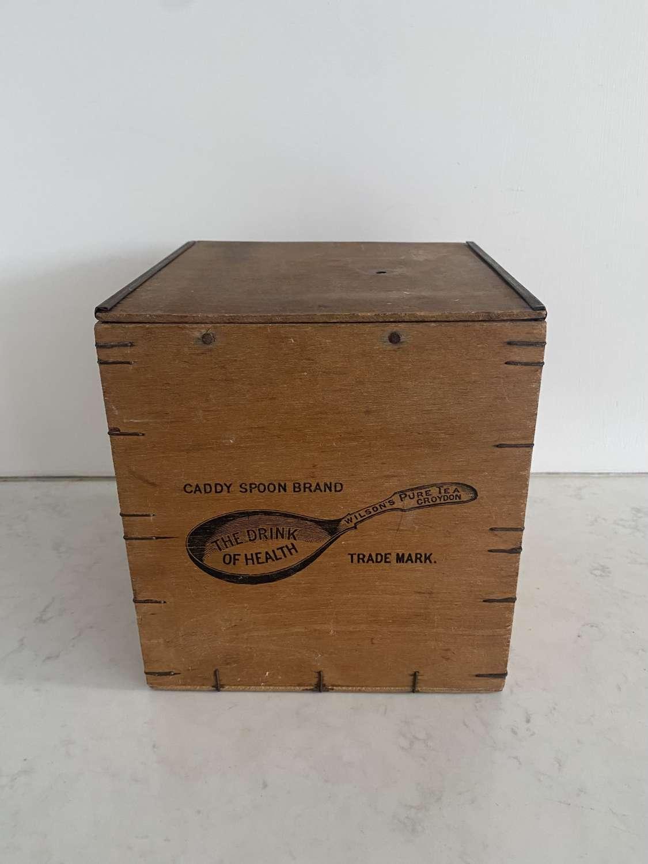 Early 20th Century Advertising Tea Caddy - Wilsons Pure Tea