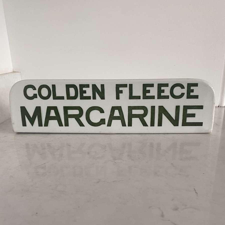 Super Rare 1930s Grocers Advertising Slab Golden Fleece Margarine