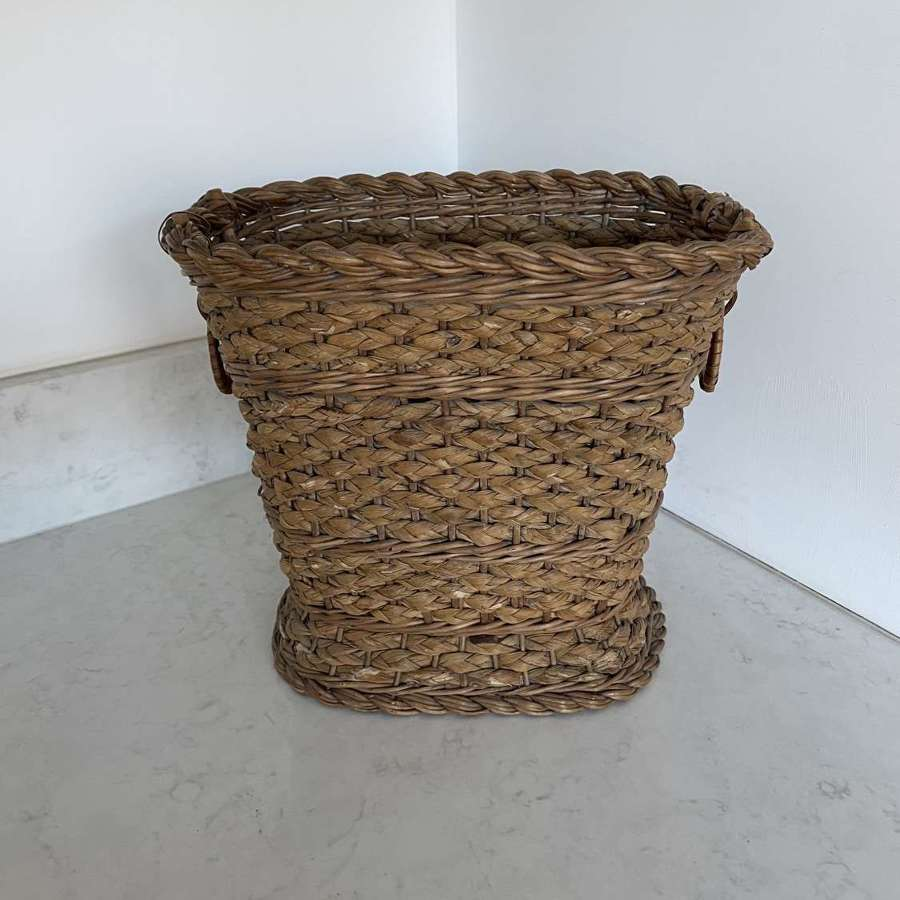 Very Pretty Early 20th Century Waste Paper Basket