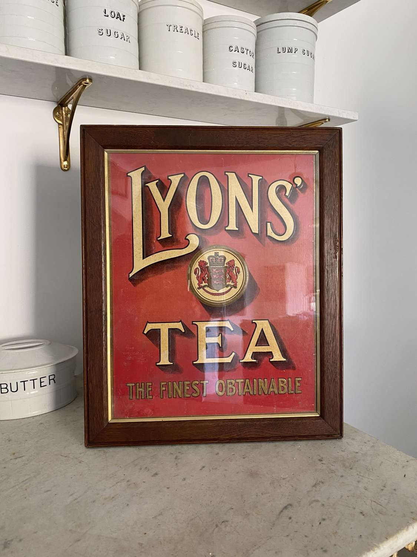 Early 20th Century Framed Advert - Lyons' Tea