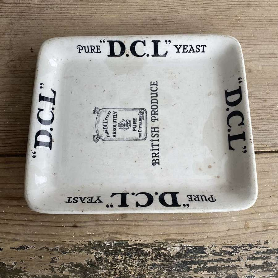 Genuine Edwardian Grocers White Ironstone Advertising Platter - DCL